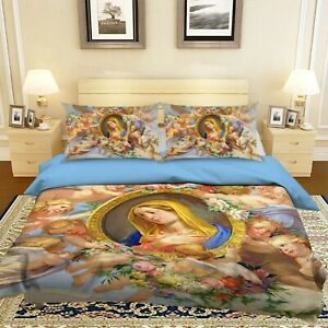 3D Angel Baby Garland Our Lady KEP009 Bed Pillowcases Quilt Duvet Cover Kay