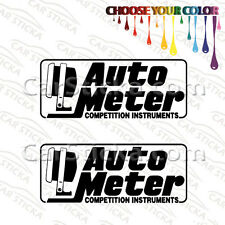 2 Of 8 Auto Meter Racing Car Truck Bumper Window Vinyl Stickers Decals Die Cut