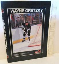 LA KINGS WAYNE GRETZKY NHL HOCKEY STARLINE PAPER BOOK COVER 1989 BOOKCOVER