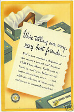 Linen Advertising Card - Red Cross Shoes