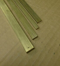 "Brass flat bars CZ121 12"" long. Live steam. Model Making"
