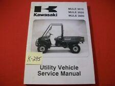 KAWASAKI UTILITY VEHICLE MULE 3010 3020 3000 SERV & PREP #99924-1262-06  2001-06