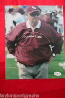 BOBBY BOWDEN FLORIDA STATE COACH Signed 8x10 FOOTBALL PHOTO 2 JAMES SPENCE