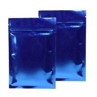 Lucido Blu Premium Bustine Richiudibili Piatto Borsetta Bpa / senza Odore W /