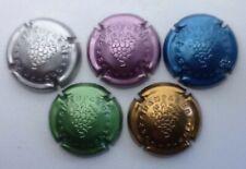 Série de 5 capsules de champagne générique n°762abcd