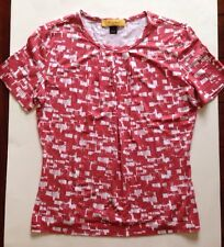 St. John Womens Shirt Blouse Top Casual Short Sleeve Size Small Rayon Spandex