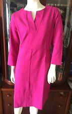Lands End Kleid NEU 3/4 Arm Stretchkleid 40 14 Jerseykleid Dress Jersey magenta