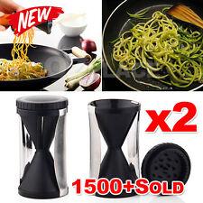 Premium 2x Cutter Slicer Peeler Twister Spiral Vegetable Spiralizer Fruit Tool