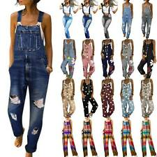 Womens Strappy Jumpsuit Trousers Overalls Casual Pants Rompers Playsuit Summer