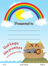 20 Children's Presentation Labels With Bible Text - God Keeps His Promises EB237