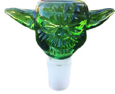 14mm Green Yoda Design Glass Bowl Male Joint for Bongs Water Hookahs Accessorie