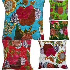 15 PCs Lot Of Tropical Fruit Kantha Work Cushion Cover Sofa Decor Pillow Cases