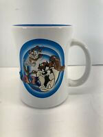 Tasmanian Devil Coffee Cup Mug Six Flags TAZ 3D Looney Tunes White
