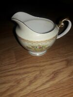 Meito China Japan  JEWEL Hand Painted Creamer Gold Trim Flower Bouquet