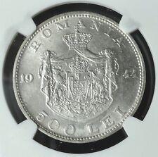 ROMANIA 1944, 500 LEI,  NGC AU 58