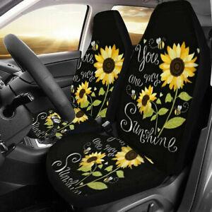 2PCS Universal Front Car Auto Van Truck Seat Covers Cushions Protector  UK