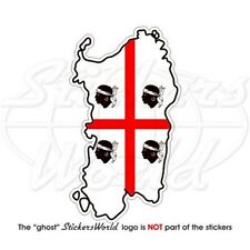 SARDINIA Map-Flag Sardegna ITALY Italian Bumper Sticker Decal