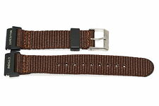 Timex 20mm Brown Expedition Indiglo Camper Nylon Watch Band Strap - 2 PIECES