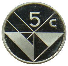 (E58) - Aruba - 5 Cents 1986 - Beatrix - UNC - KM# 1