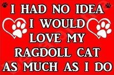 I HAD NO IDEA I WOULLD LOVE MY RAGDOLL CAT AS MUCH AS I DO Fridge Magnet GIFT