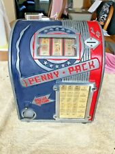 Daval Penny Pack Three Reel Cigarettes Trade Simulator Gum Machine Penny 1 Cent
