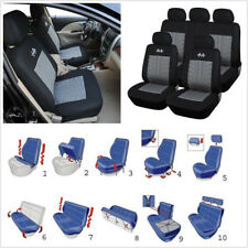 One Set Grey+Black Full Set 5-Seat Car Seat Cover Protector Cushion High Quality