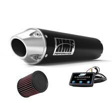 HMF Performance Slip On Exhaust Pipe Black Polish Cap EFI Optimizer K&N DS 450