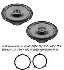 Audi A3 8L Heck - Hertz Uno X160 - 16cm 2-Wege Koax incl. Lautsprechereinbauset