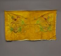 Antique Chinese Qing Dynasty Silk Embroidered textile Panel wall hanging 35X22