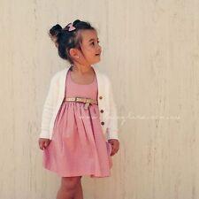 Girls Boutique Lacey Lane Australia Daisy Pink Polka Dot Hummingbird Dress sz 3