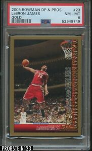 2005 Bowman Chrome DP & Prospects Gold #23 LeBron James Cavaliers PSA 8 NM-MT