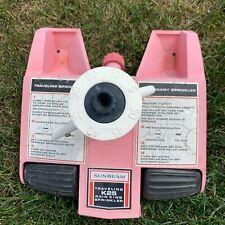 Vintage Hot Pink Sunbeam Rain King K25 Traveling Lawn Water Sprinkler For Parts