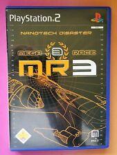 MEGA RACE 3 NANOTECH DISASTER MULTI-LANGUAGE PS2 GAME brand new GERMAN INLAY