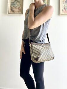 Authentic Vintage GUCCI Brown Monogram GG purse Shoulder BAG Crossbody