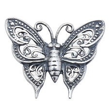 """FILIGREE STYLE BUTTERFLY .925 Sterling Silver Pendant .5"""""""