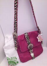 Charm And Luck Pink Zebra Leather Handbag Shoulder Bag Crossbody Messenger Bag