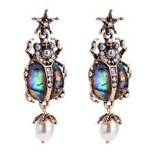 Abalone Shell Scarab Beetle Earrings Skull Crystal Pearl Egypt Pendant Gothic