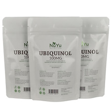 Pure Ubiquinol 100mg Softgels (Bioavailable CoQ10) Enhanced Absorption Formula