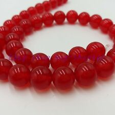 """Natural 16mm Round Red Ruby Gemstone Loose Beads 15""""  AAA"""