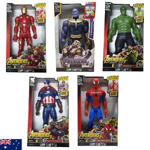AVENGERS Hulk Iron Man Thanos Spider Man Captain America 30CM Sound Action Figur