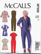 MCCALL'S SEWING PATTERN 7330 MISSES SZ 16-26 JUMPSUITS IN PLUS SIZES