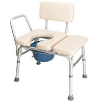 Bedside Commode Chair for Adults Bariatric Potty Chair Toilet Commode w/ Pad
