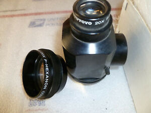 MITUTOYO OPTICAL COMPARATOR 20X LENS KIT