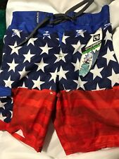 Ocean Current Mens Surfer board shorts  stretch Swim Trunks Size LARGE