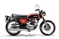 1974 HONDA CB200 VINTAGE MOTORCYCLE POSTER PRINT 36x54 BIG