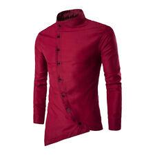 New Fashion Luxury Mens Casual Shirt Slim Fit Stylish Long Sleeve Dress Shirts