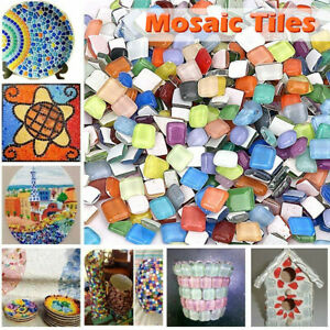 1000g Mixed Crystal Glass Mosaic Tiles Kitchen Bathroom Art&Craft Supplies LOT