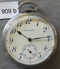 Vintage Waltham 12 Size Pocket Watch, Runs Good