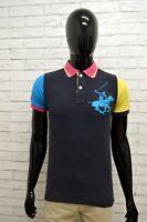 Polo BEVERLY HILLS Taglia Size XS Maglia Maglietta Camicia Shirt Man Cotone Blu