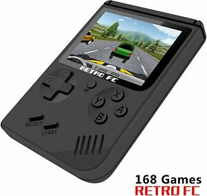 Retro FC Game Console 3 Inch Screen 168 Classic Games TV Output Game Player